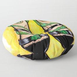 Golden Slippers Floor Pillow