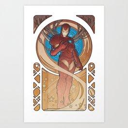 Iron Man Nouveau Art Print