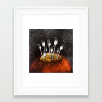 mars Framed Art Prints featuring Mars by acefecoo