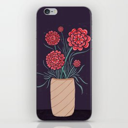 Red Carnations iPhone Skin