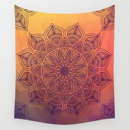 Peach Mandala Wall Tapestry