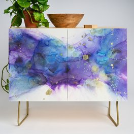 Make a Wish Alcohol Ink Painting Credenza