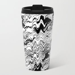 Monochrome wave Travel Mug