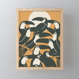 Black birds Framed Mini Art Print