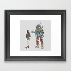 They Met Framed Art Print