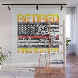 Thin Red Line Firefighter Hero Retirement Retired Wall Mural