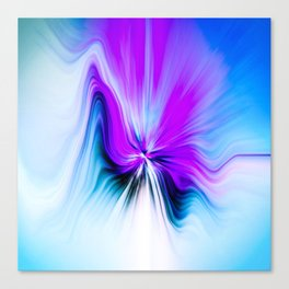 Abstract Moving Butterfly Design Canvas Print