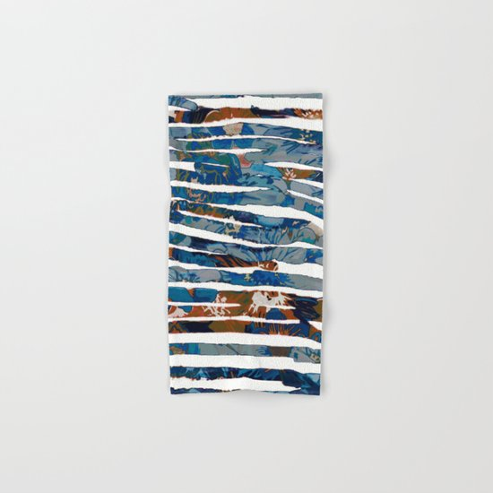 floral cut into stripes Hand & Bath Towel