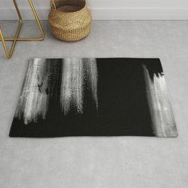Black And White Bokeh Stripes Brush Strokes - Gothic Glam - Abstract - Corbin Henry Rug