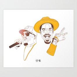 Andre 3000 and Big Boi Art Print