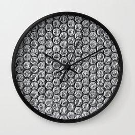 Bubble Wrap Pleasure Wall Clock
