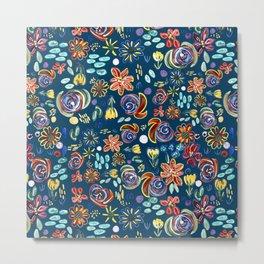 flory night pattern design Metal Print