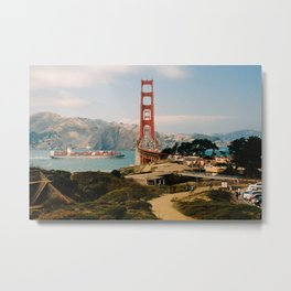 Golden Gate Bridge shot on film Metal Print