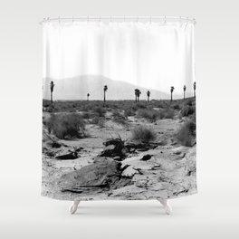 Vintage Desert in Black And White Shower Curtain