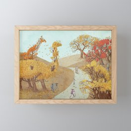 The Night Gardener - Autumn Park Framed Mini Art Print