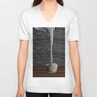 milk V-neck T-shirts featuring Milk by Littlebell