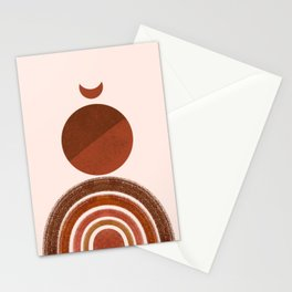 Abstract Moon Stationery Cards