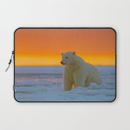 Sunset Polar Bear Laptop Sleeve