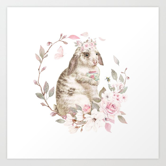 Bunny Blue Eyes Art Print