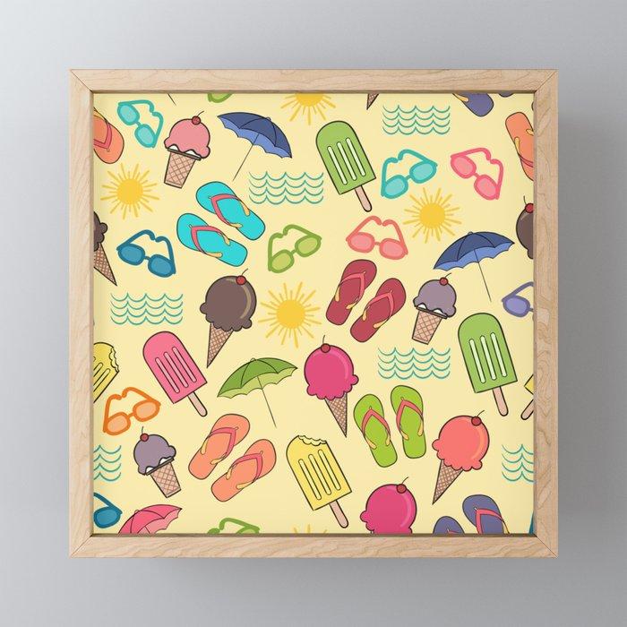 Beach Essentials Framed Mini Art Print