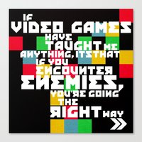 video games Canvas Prints featuring Video Games by Divya Tak