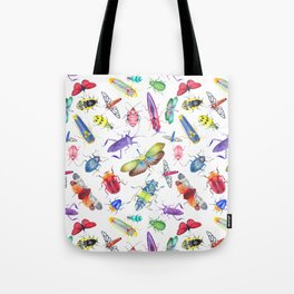 Colorful Bugs and Beetles Collection Tote Bag