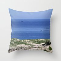 cape cod Throw Pillows featuring Cape Cod by Heidi Ingram