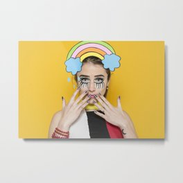 Pop Art Girl Photography Metal Print