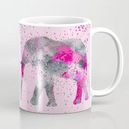 Crazy pink Elephant Paint Splatter Art Coffee Mug