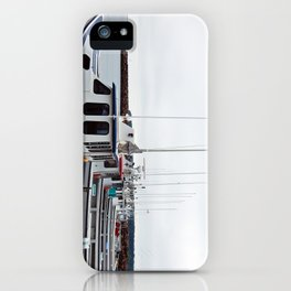 Lobster Boat Line-up iPhone Case