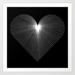 STRAIGHT FROM THE HEART Art Print