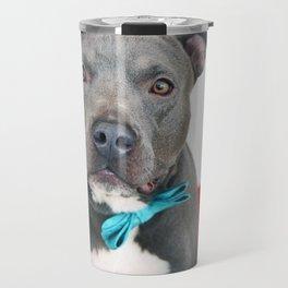 Handsome Blue Pitbull Travel Mug