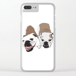 English Bulldogs Clear iPhone Case