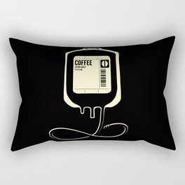 Coffee Transfusion - Black Rectangular Pillow