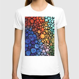 Abstract 1 - Beautiful Colorful Mosaic Art by Sharon Cummings T-shirt