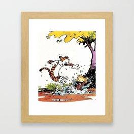 calvin n hob Framed Art Print