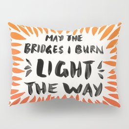 Bridges Burned – Fiery Palette Pillow Sham