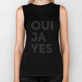 Oui, Ja, Yes Biker Tank