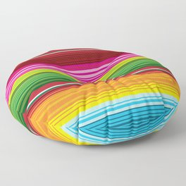 Mexican Blanket - Rainbow Striped Floor Pillow