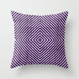 The System - Purple Throw Pillow