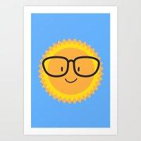 sunglasses Art Prints featuring Sunglasses by Danielle Podeszek