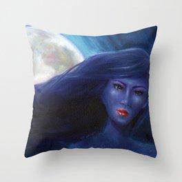 Purple Woman Throw Pillow