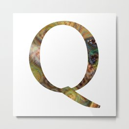 "Initital letter ""Q"" Metal Print"