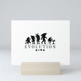 Poker Darwinism Mini Art Print