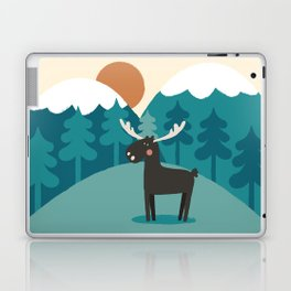 Moose In The Mountains Laptop & iPad Skin