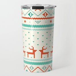 Festive Fair Isle Travel Mug