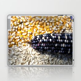 White, yellow and blue corn Laptop & iPad Skin