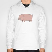 pig Hoodies featuring Pig by ITEMLAB