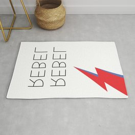 David Rebel Rebel Rock Music Aladdin Sane Bolt Glam Rock Music Rug