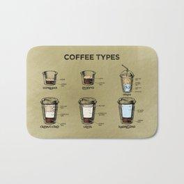 Coffee types — Coffeeology #4 Bath Mat